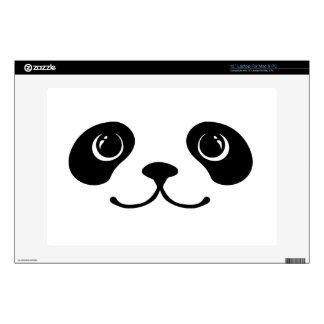 Diseño animal lindo de la cara de la panda blanco  skins para portátiles