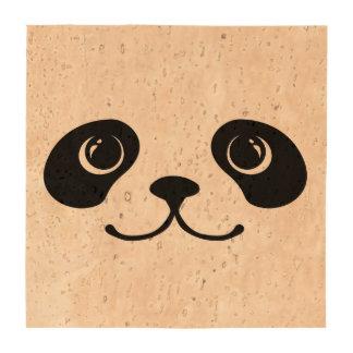 Diseño animal lindo de la cara de la panda blanco  posavasos