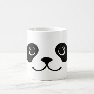 Diseño animal lindo de la cara de la panda blanco taza clásica