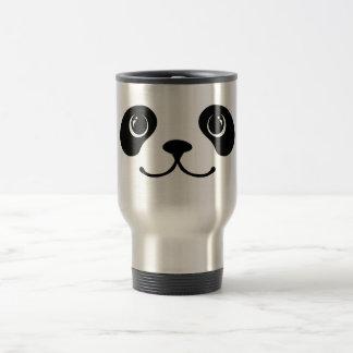 Diseño animal lindo de la cara de la panda blanco taza de viaje
