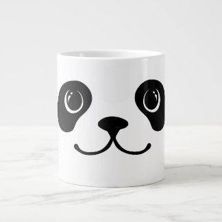 Diseño animal lindo de la cara de la panda blanco taza grande
