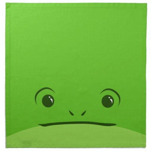 Diseño animal lindo de la cara de la rana verde servilletas