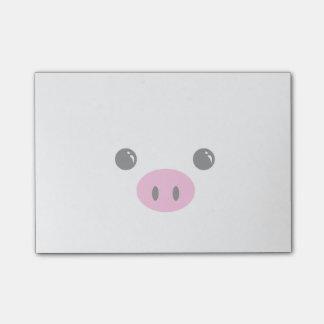 Diseño animal lindo de la cara del cochinillo blan nota post-it®