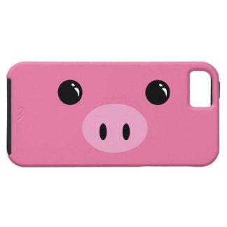 Diseño animal lindo de la cara del cochinillo rosa iPhone 5 carcasas