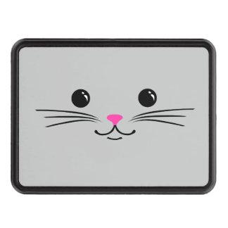 Diseño animal lindo de la cara del gato de plata d tapas de remolque