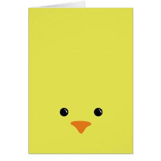 Diseño animal lindo de la cara del pollo amarillo
