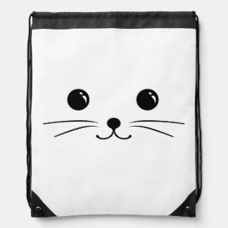 Diseño animal lindo de la cara del ratón blanco mochilas