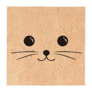 Diseño animal lindo de la cara del ratón blanco posavasos