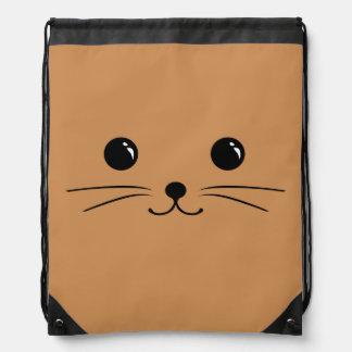 Diseño animal lindo de la cara del ratón de Brown Mochilas