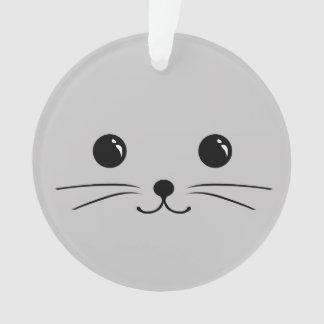Diseño animal lindo de la cara del ratón de plata