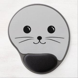 Diseño animal lindo de la cara del ratón de plata alfombrilla con gel