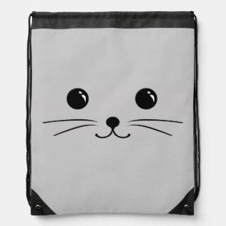 Diseño animal lindo de la cara del ratón de plata mochila