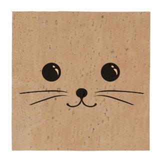 Diseño animal lindo de la cara del ratón de plata posavasos