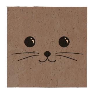 Diseño animal lindo de la cara del ratón gris posavasos