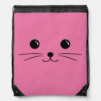 Diseño animal lindo de la cara del ratón rosado mochila