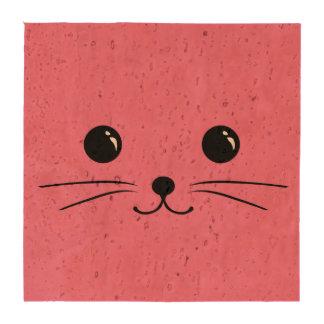 Diseño animal lindo de la cara del ratón rosado posavasos