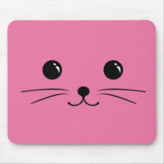 Diseño animal lindo de la cara del ratón rosado tapete de ratón