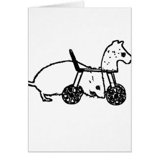 diseño animal lindo del caballo de la afición del tarjeta de felicitación