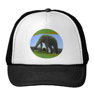 Diseño animal verde en parque gorra