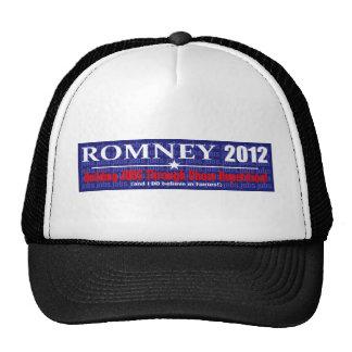 Diseño anti 2012 de presidente REPETITION de Mitt Gorras De Camionero