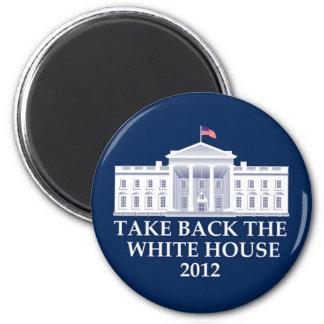 Diseño anti de Barack Obama Imán Redondo 5 Cm