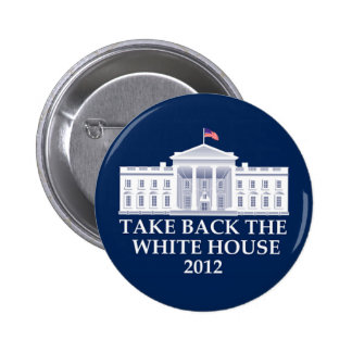 Diseño anti de Barack Obama Pin Redondo 5 Cm