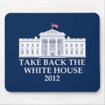 Diseño anti de Barack Obama Tapete De Ratones
