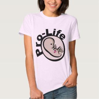 Diseño antiabortista del feto camisas