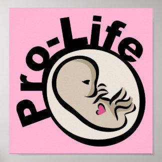 Diseño antiabortista del feto póster