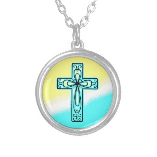 Diseño antiguo de la cruz céltica de la turquesa grimpola