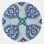 Diseño antiguo de la teja del otomano pegatina redonda