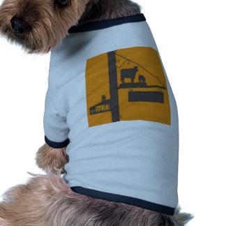 Diseño antiguo de la yarda camisetas de perro