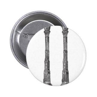 Diseño antiguo de las columnas del templo pins