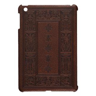 Diseño antiguo del libro grabado en relieve del cu iPad mini cobertura