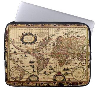 Diseño antiguo del mapa del mundo del vintage fundas ordendadores
