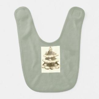 Diseño antiguo del navidad por los bbillips babero de bebé