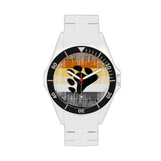 DISEÑO APENADO BANDERA del ORGULLO del OSO - 2014 Relojes De Pulsera