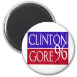 Diseño apenado de Clinton Gore 96 Imán Redondo 5 Cm