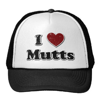 Diseño apenado de los Mutts del corazón de I Gorras De Camionero