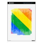 DISEÑO APENADO DIAGONAL DEL ORGULLO GAY PEGATINA SKIN PARA iPad 3