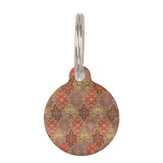 Diseño árabe de la alfombra placa de mascota