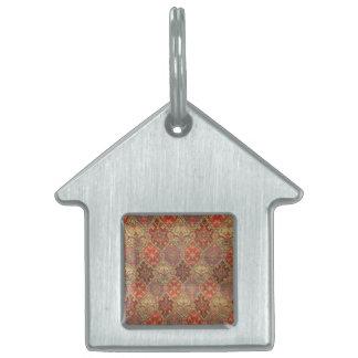 Diseño árabe de la alfombra placa mascota