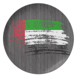 Diseño árabe fresco de la bandera plato para fiesta