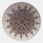 Diseño árabe interior del estilo pegatina redonda