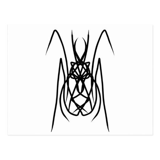 """Diseño """"araña """" del vector tarjeta postal"""