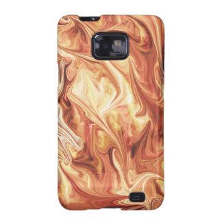 Diseño ardiente galaxy SII carcasas