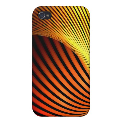 Diseño ardiente rojo y anaranjado de la elegancia iPhone 4 cárcasas