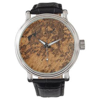 Diseño arenoso del modelo del Grunge de Brown Relojes De Pulsera