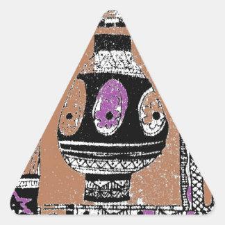 Diseño arqueológico del empuje pegatina triangular