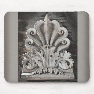 Diseño arquitectónico antiguo del elemento tapetes de ratón